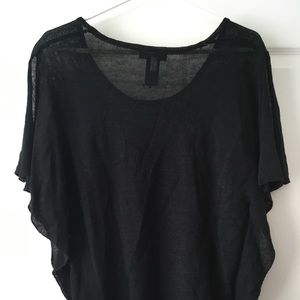 NEW YORK & COMPANY Sheer Knit Blouse